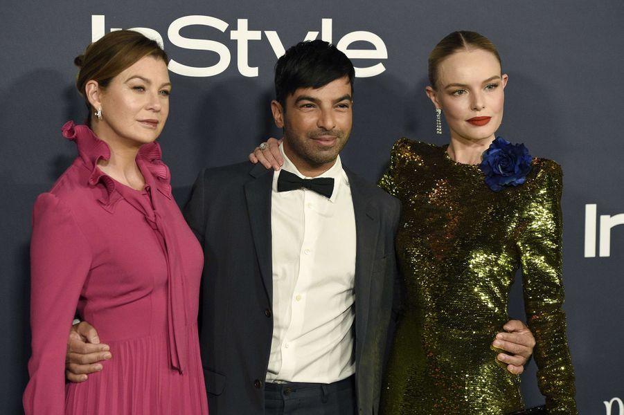 Ellen Pompeo, Harry Josh et Kate Bosworth lors des InStyle Awards, à Los Angeles, le 23 octobre 2017.