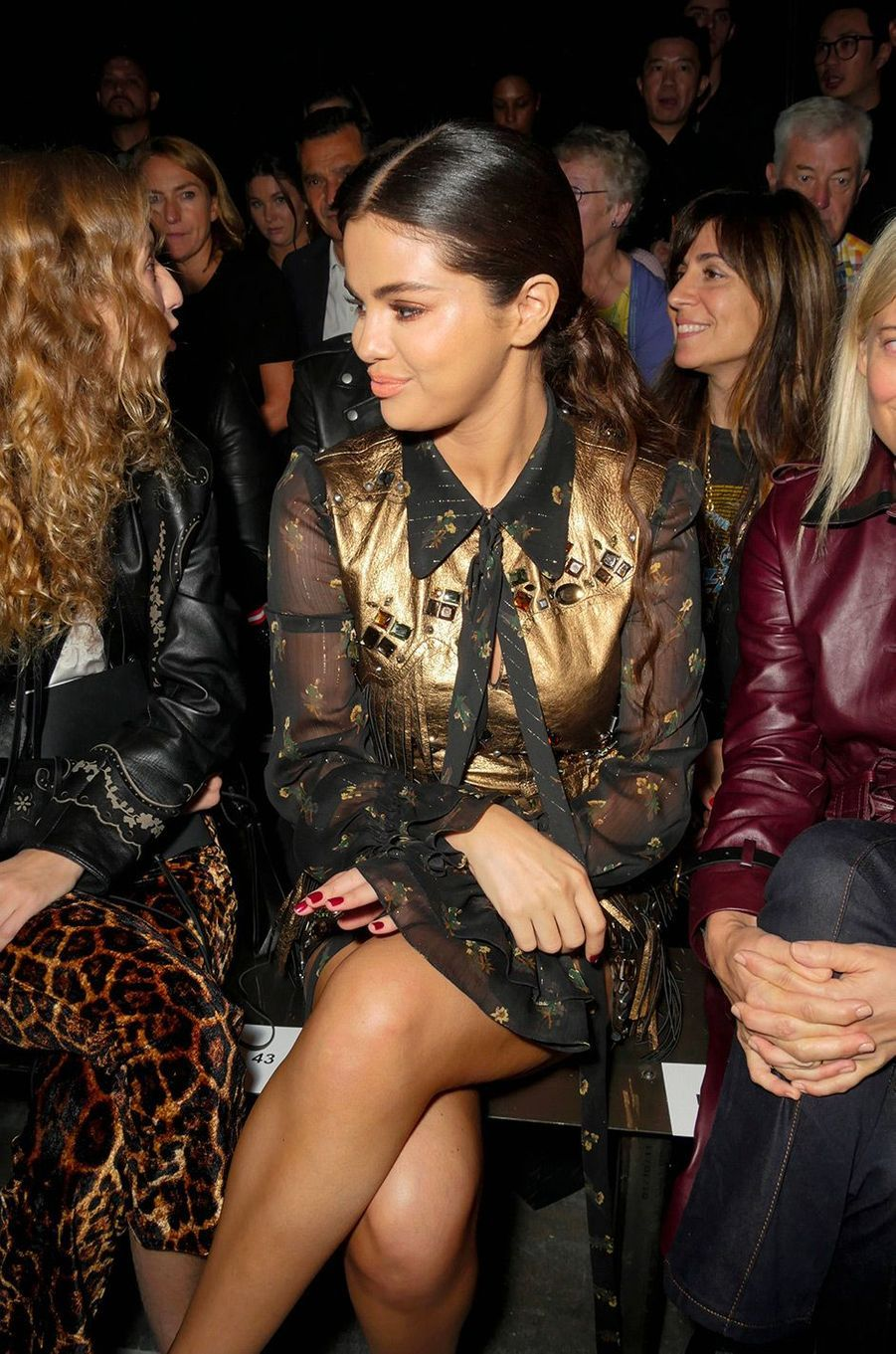 Selena Gomez au défilé Coach, à New York, mardi 11 septembre