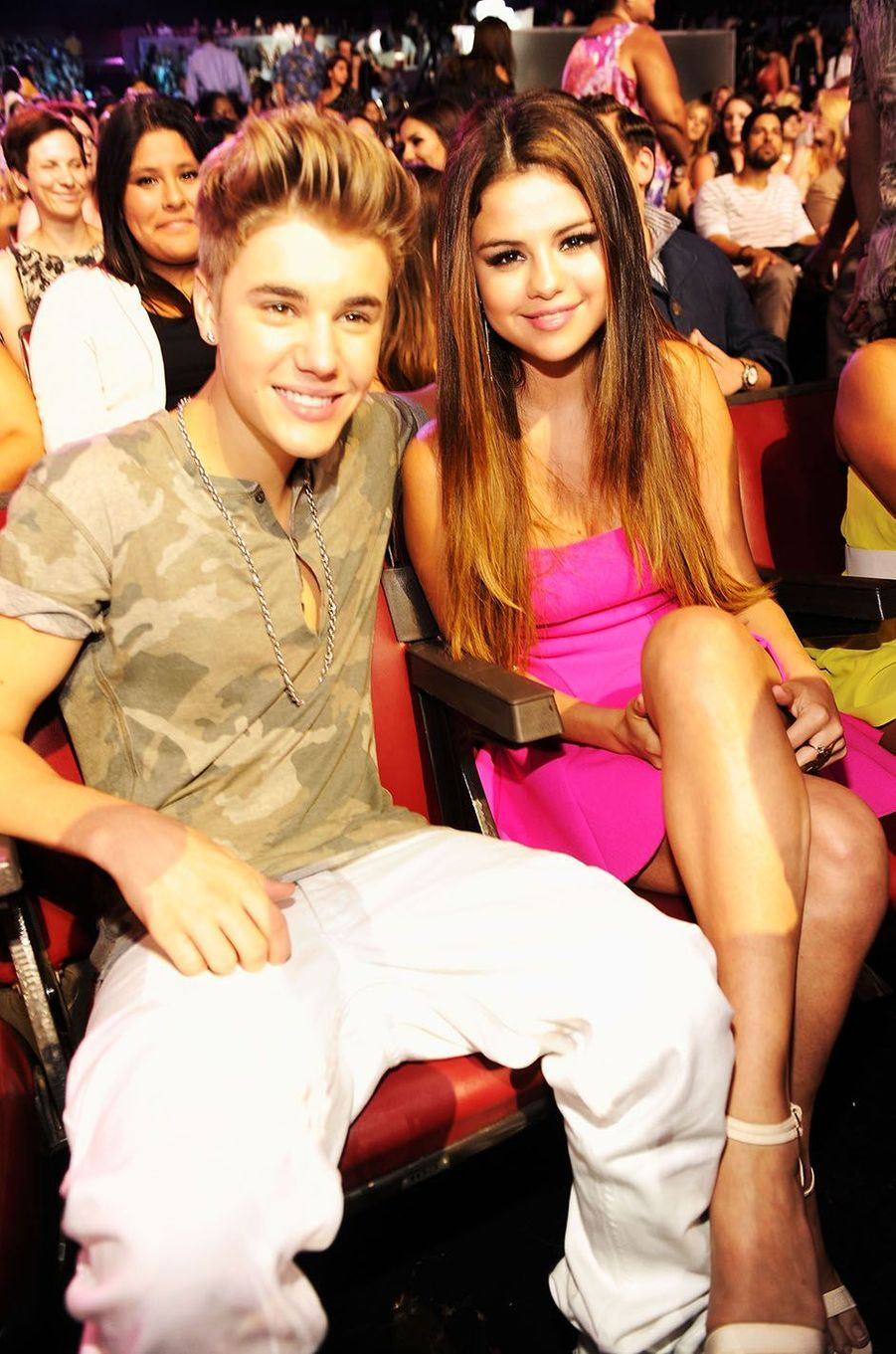 Justin Bieber et Selena Gomez en 2012.