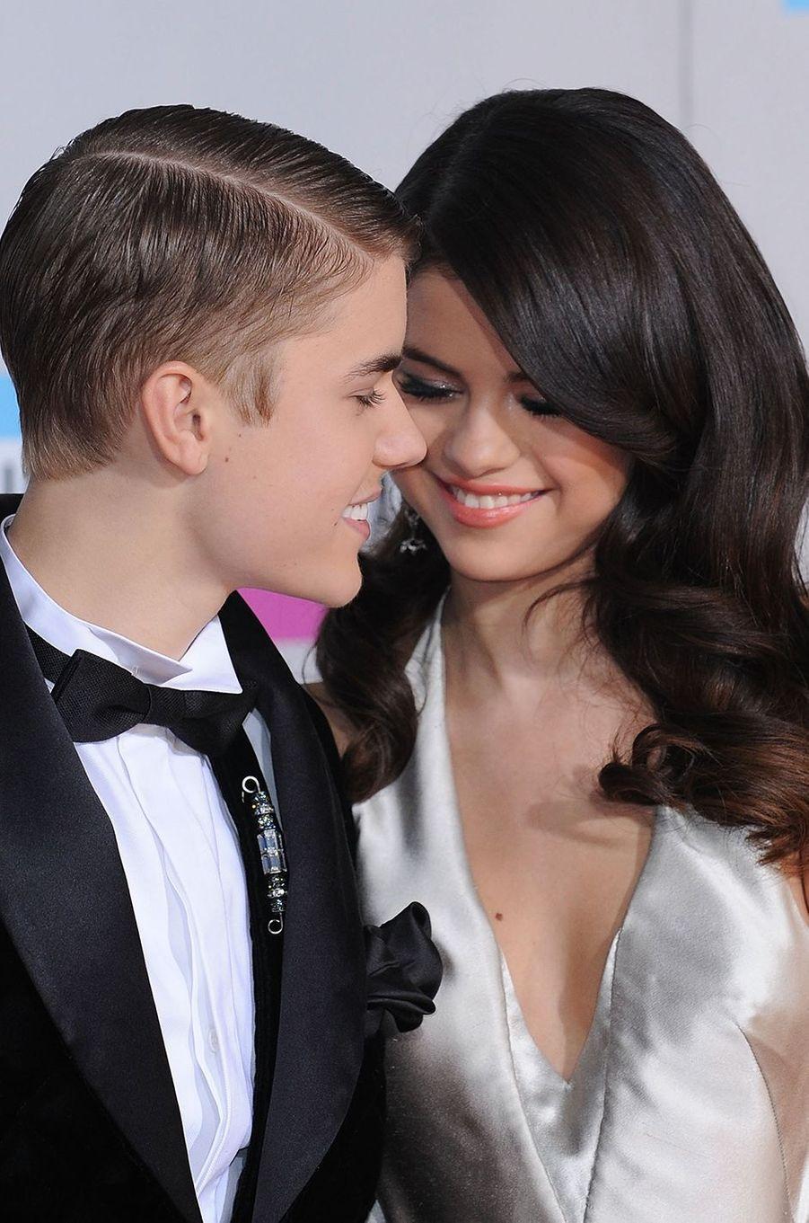 Justin Bieber et Selena Gomez aux AMA's 2011.