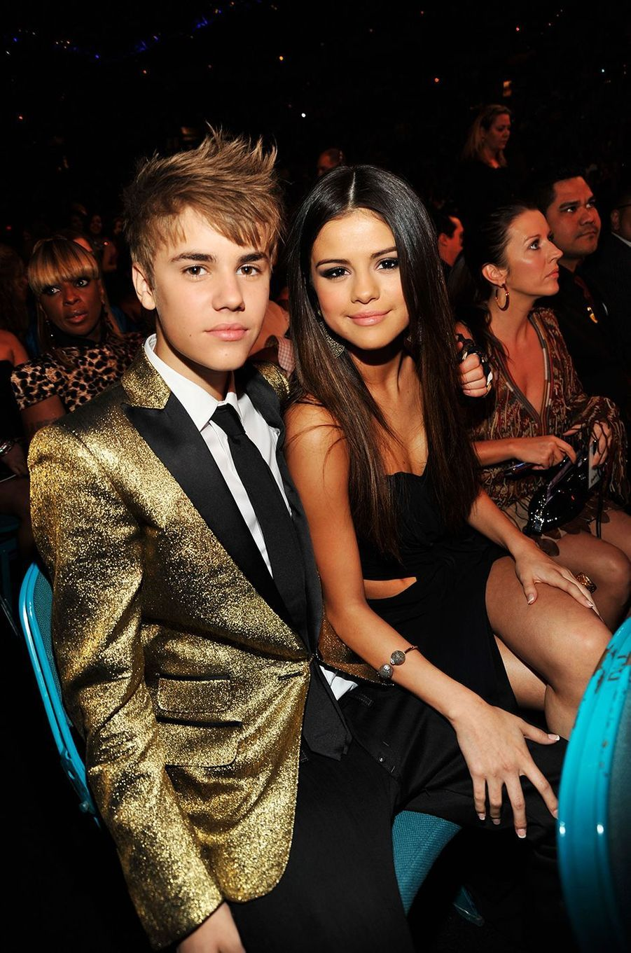 Justin Bieber et Selena Gomez aux Billboard Music Awards 2011.