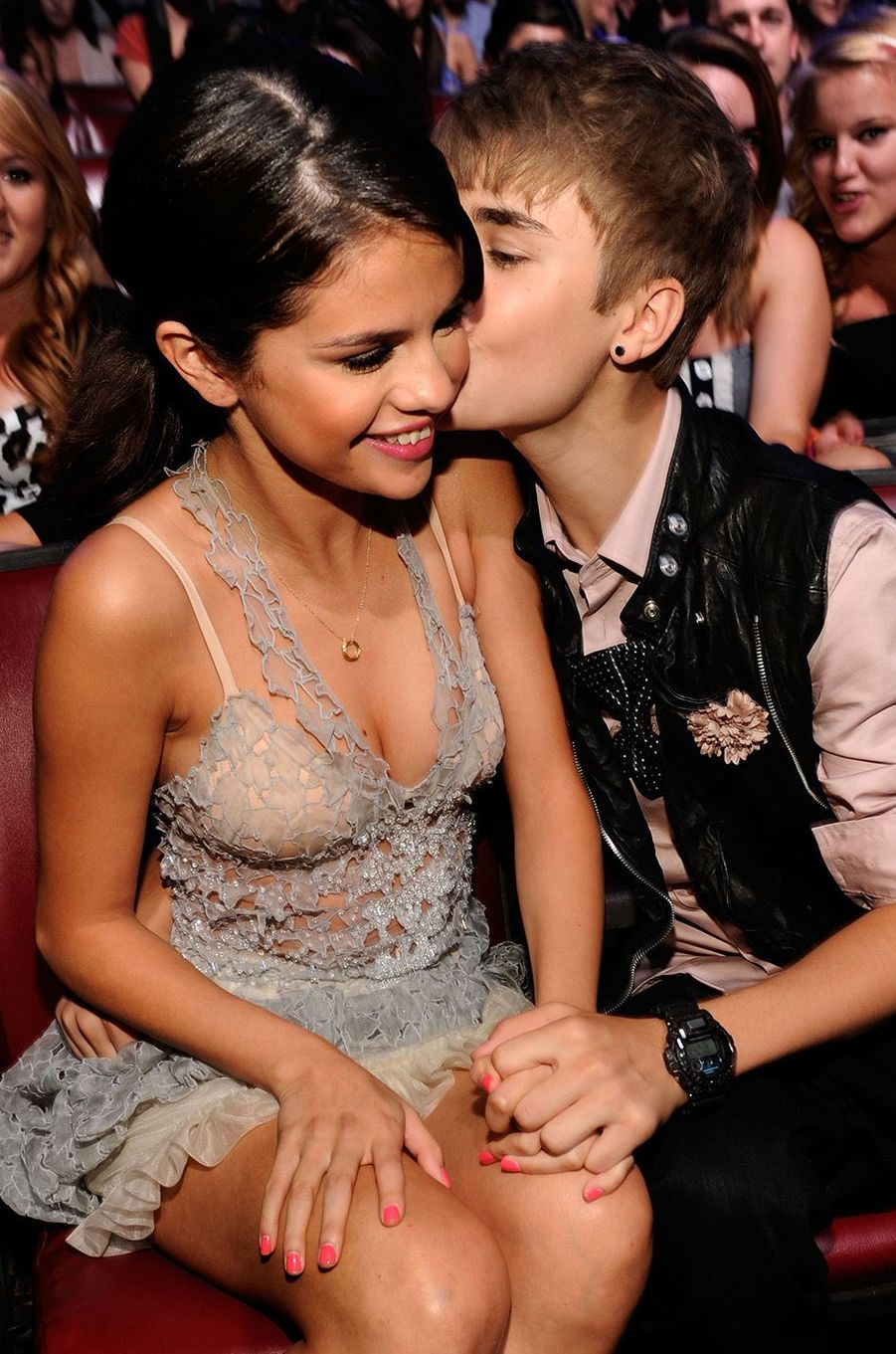 Justin Bieber et Selena Gomez aux Teen Choice Awards en 2011.