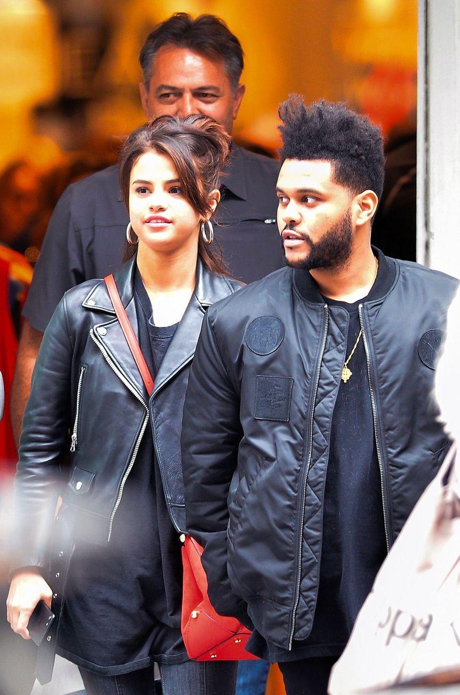 Selena Gomez et The Weeknd à New York en septembre 2017