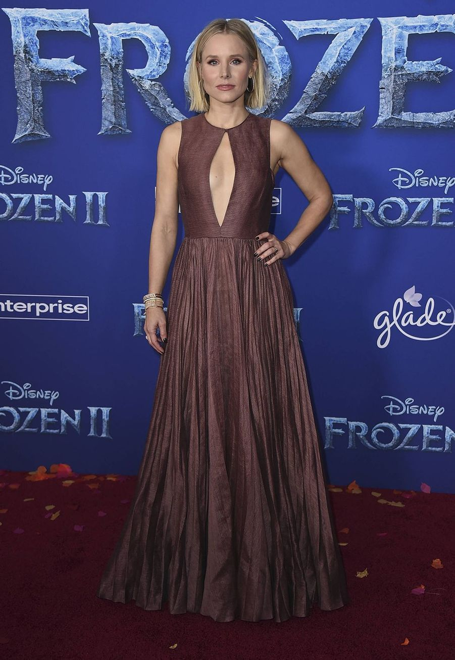 """Kristen Bell lors de la première de """"La Reine des Neiges II"""" à Los Angeles le 7 novembre 2019."""
