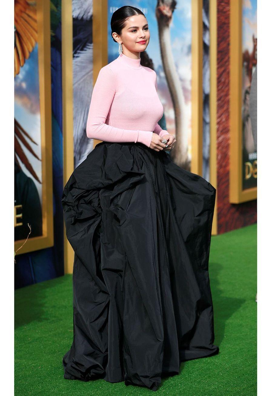 """Selena Gomez lors de la première du film""""Le Voyage du Dr Dolittle"""", àLos Angeles le 11 janvier 2020."""