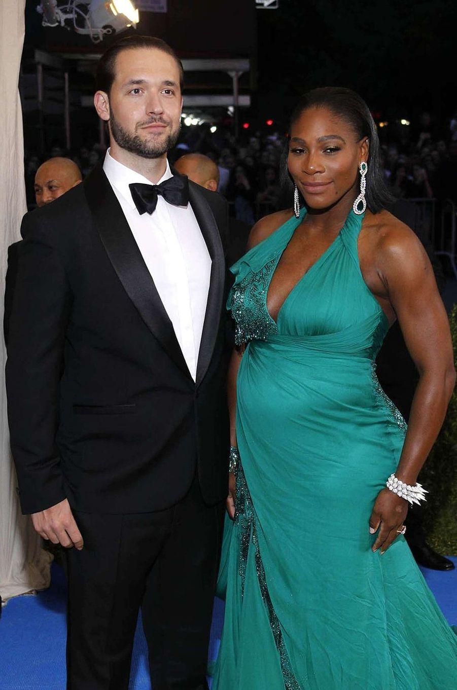 Serena Williams et Alexis Ohanian au Met Gala à New York, le 1er mai 2017.