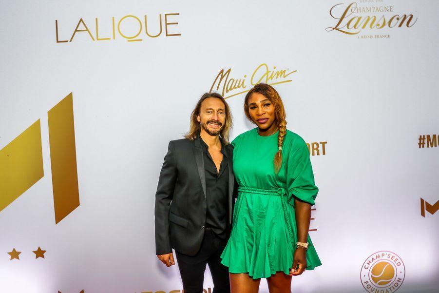Bob Sinclar et Serena Williamsaugala annuel duMouratoglou Resort à Biot le 23 juin 2019