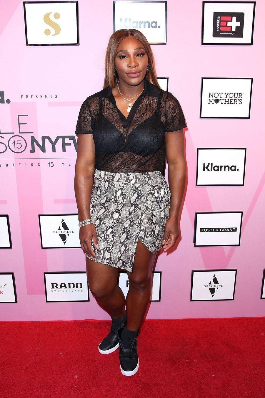 Serena Williams sur le photocall de la soirée