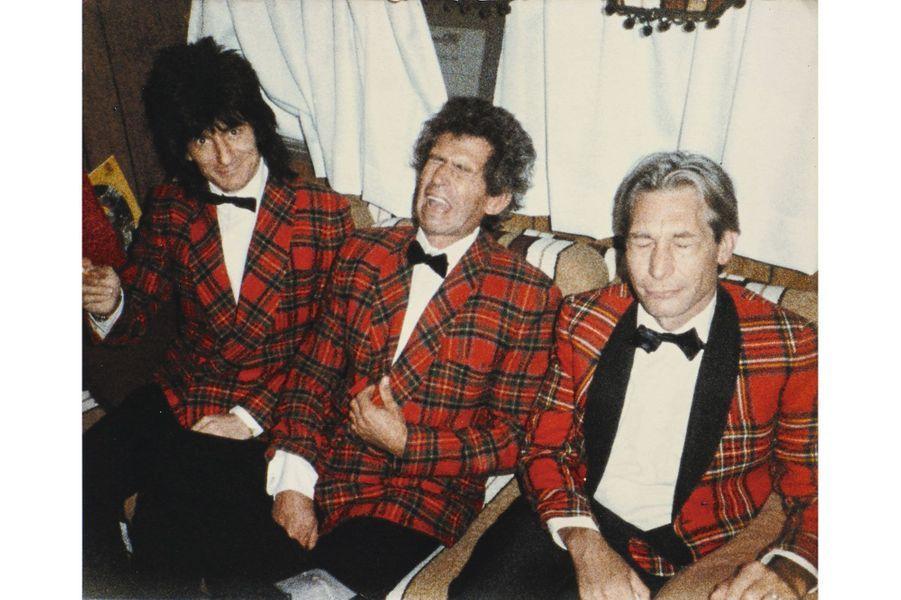 Ron, Keith et Charlie, sur le tournage du clip de « She Was Hot », en 1983.