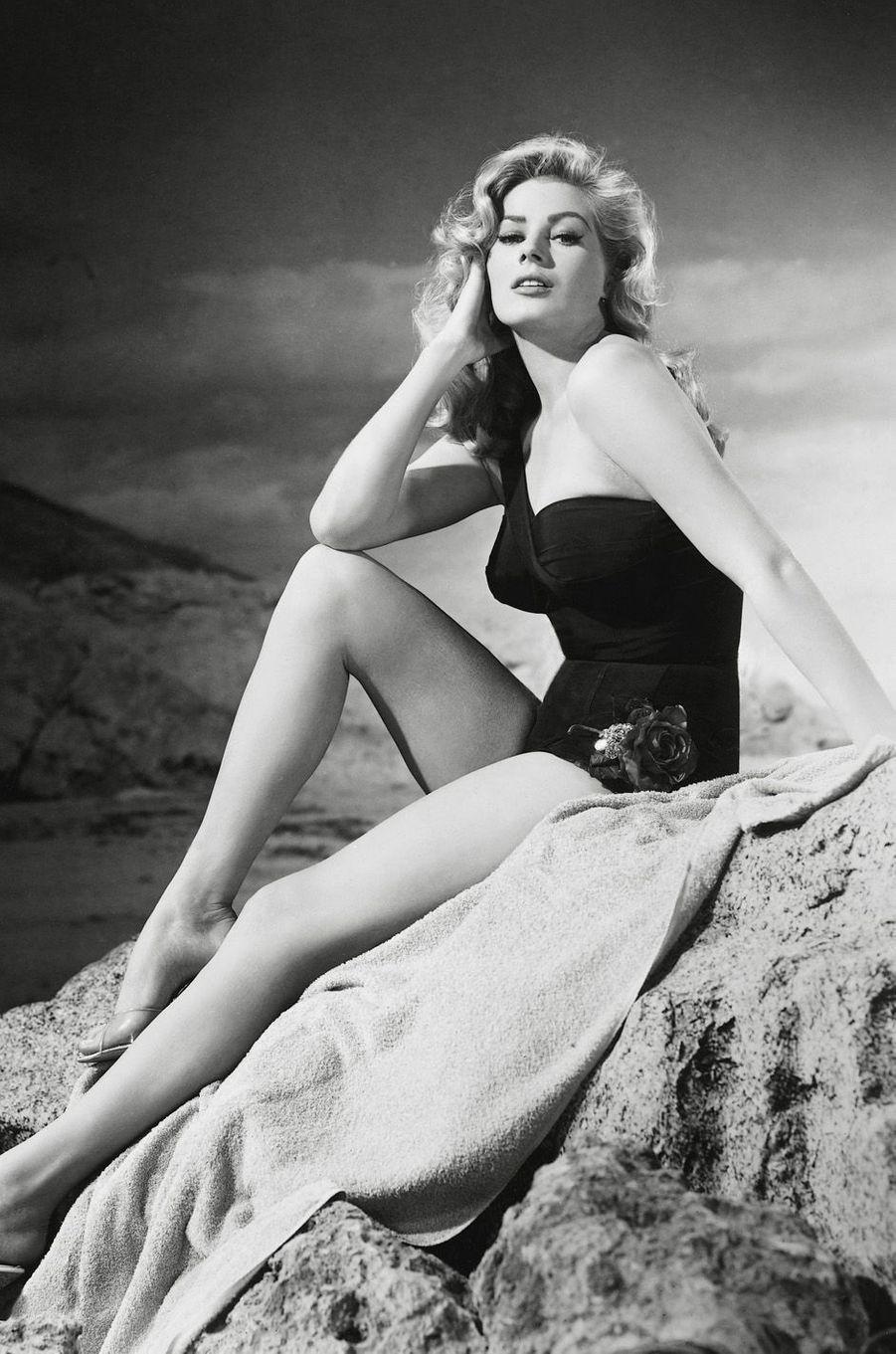 Anita Ekberg en 1955.
