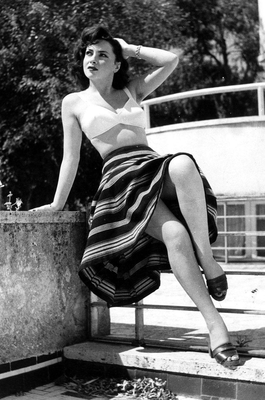 Gina Lollobrigida en 1947.