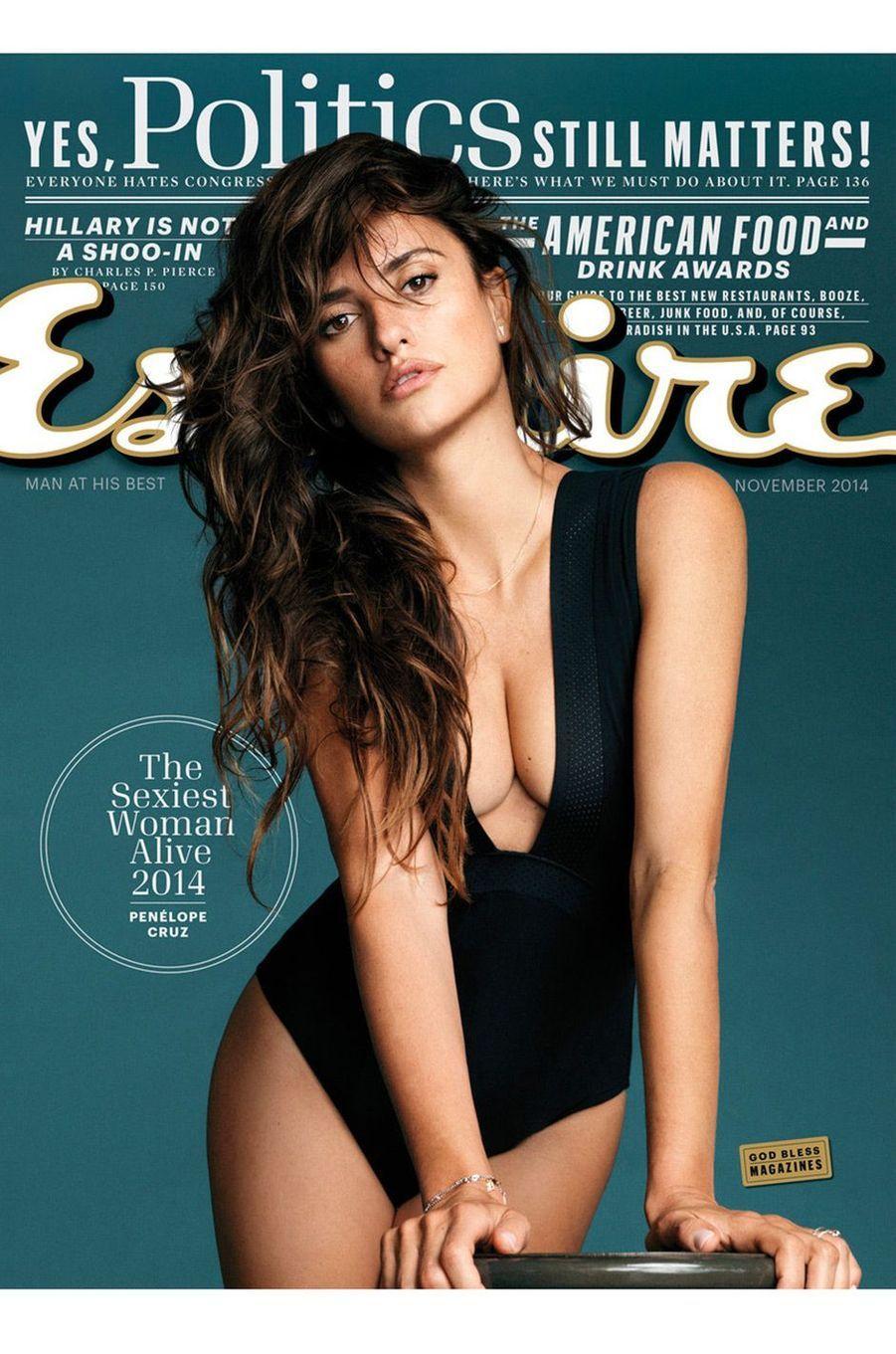 """Penélope Cruz en couverture de """"Esquire"""""""