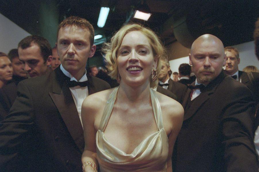 Sharon Stone au Festival de Cannes, en mai 2002.