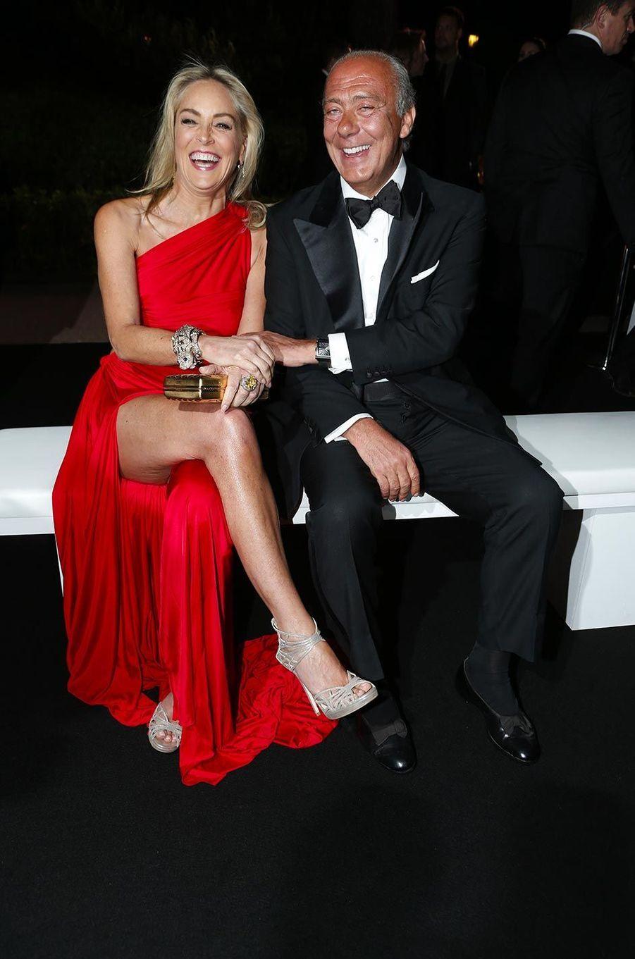 Sharon Stone à la soirée de Grisogono à l'hôtel du Cap-Eden-Roc, en mai 2013.
