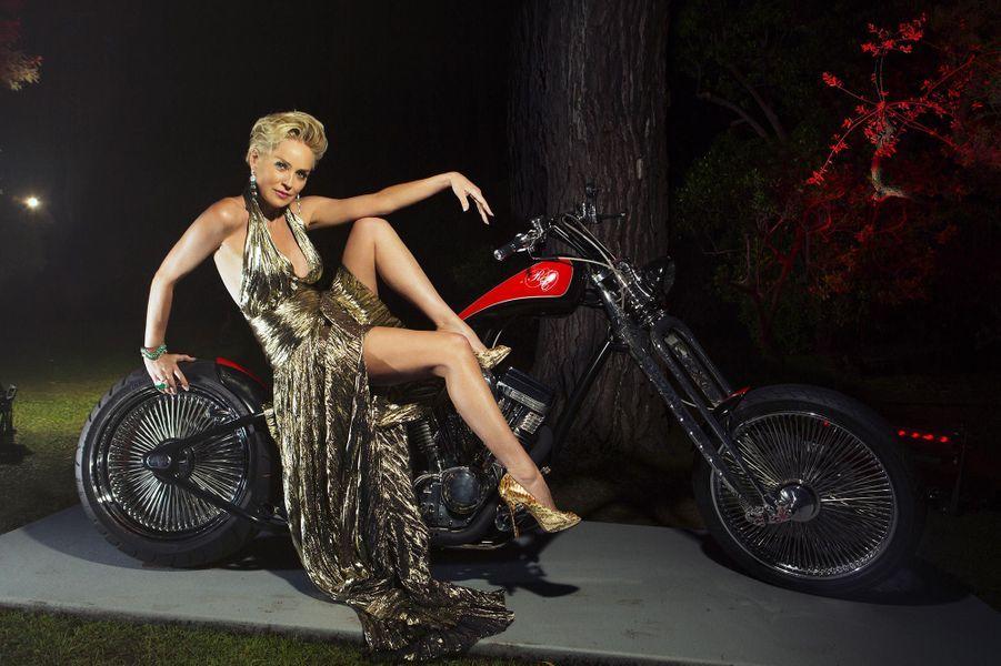 Sharon Stone au Gala de l'Amfar à l'hôtel du Cap-Eden-Roc, en mai 2014.