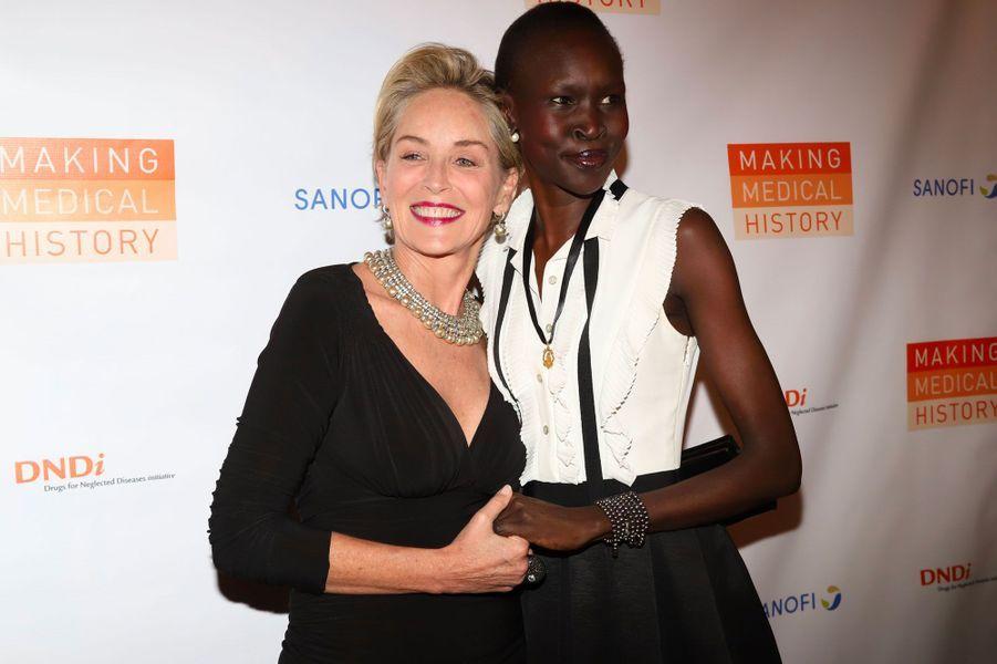 Sharon Stone et Alek Wek