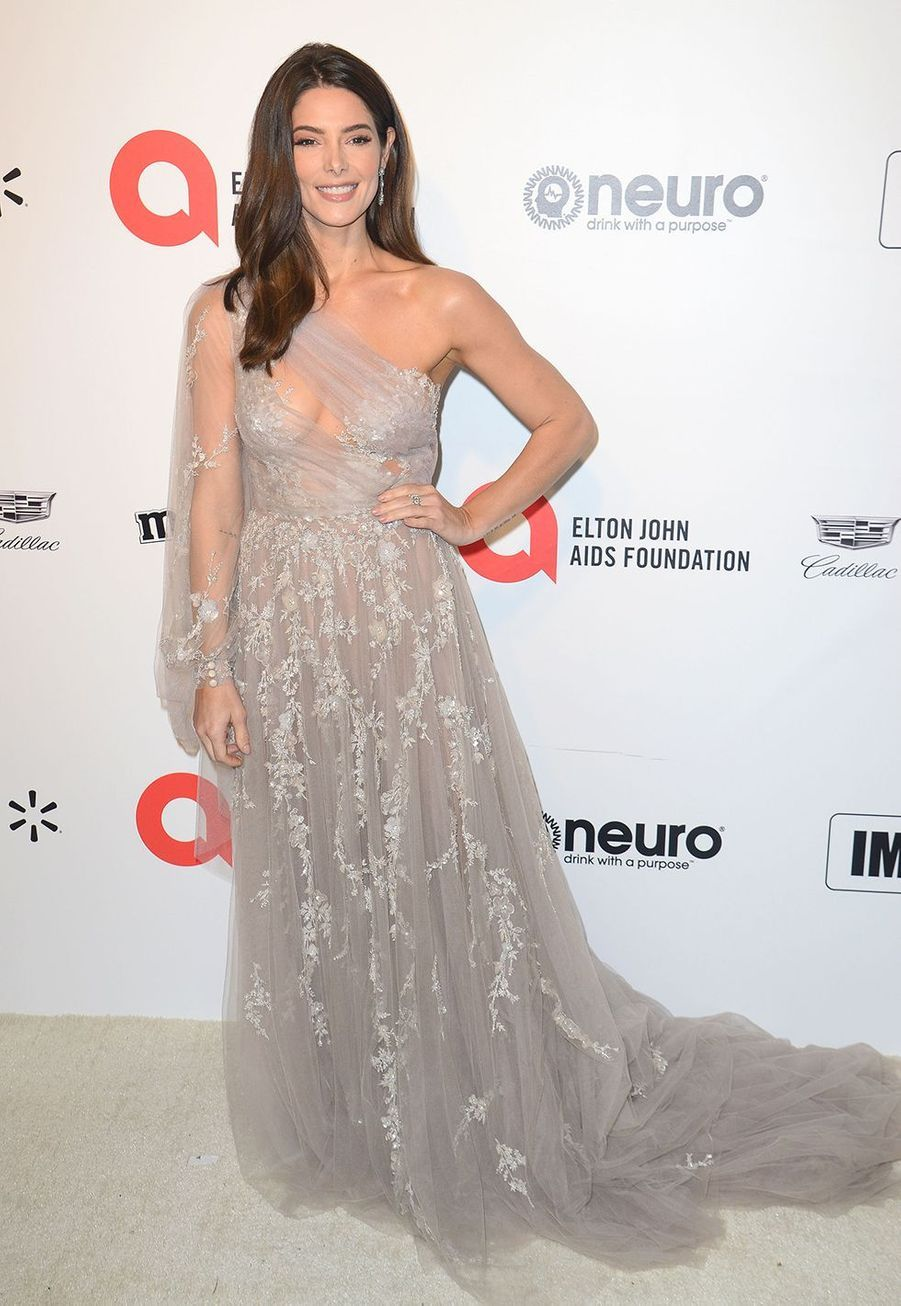 Ashley Greenelorsde la soirée d'Elton John contre le sida à Los Angeles le 9 février 2020.