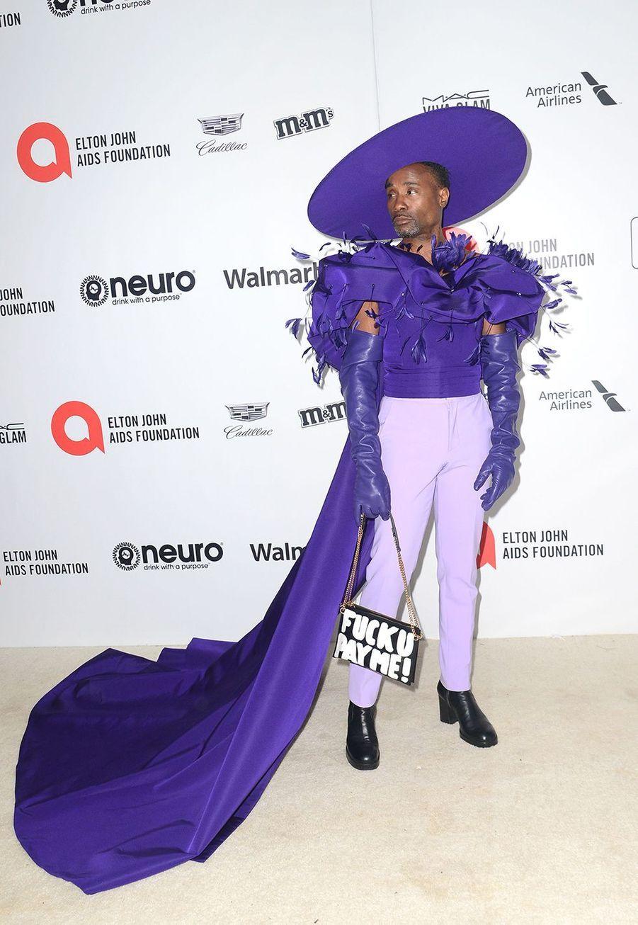 Billy Porterlorsde la soirée d'Elton John contre le sida à Los Angeles le 9 février 2020.