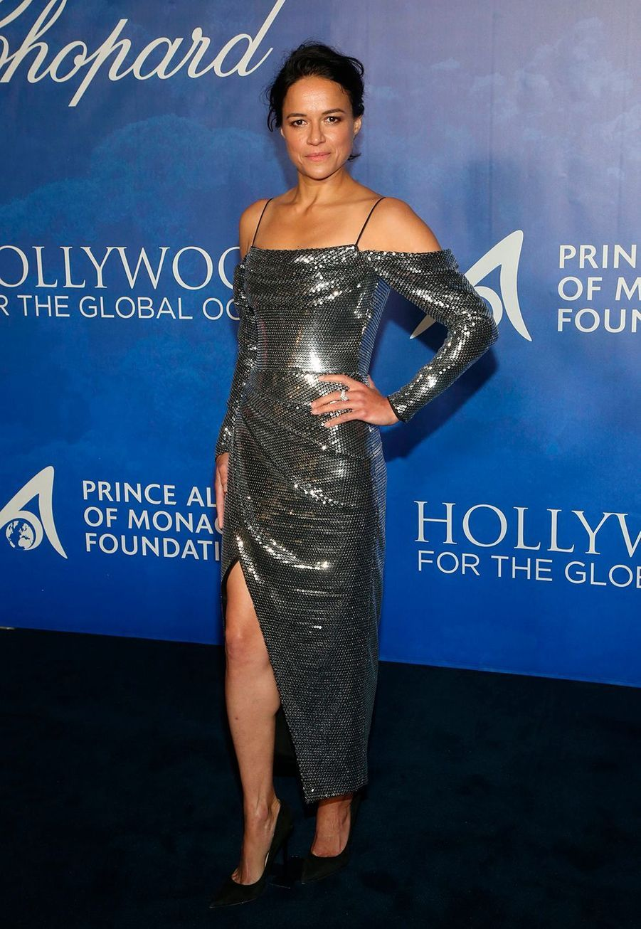 Michelle Rodríguez lors du Global Ocean Gala à Hollywood le 6 février 2020.