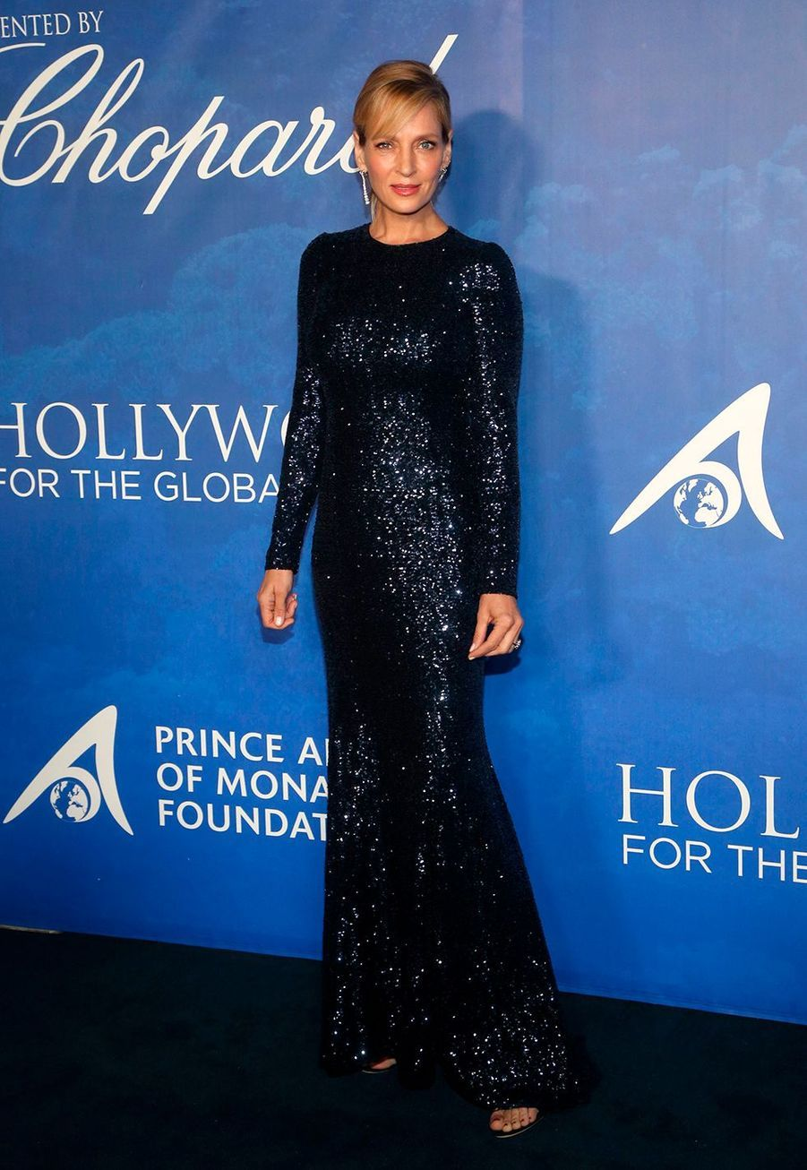 Uma Thurman lors du Global Ocean Gala à Hollywood le 6 février 2020.
