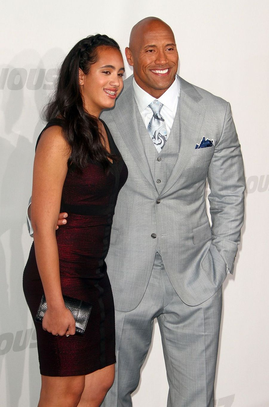 Simone Garcia Johnson et son père à Hollywood le 1 avril 2015