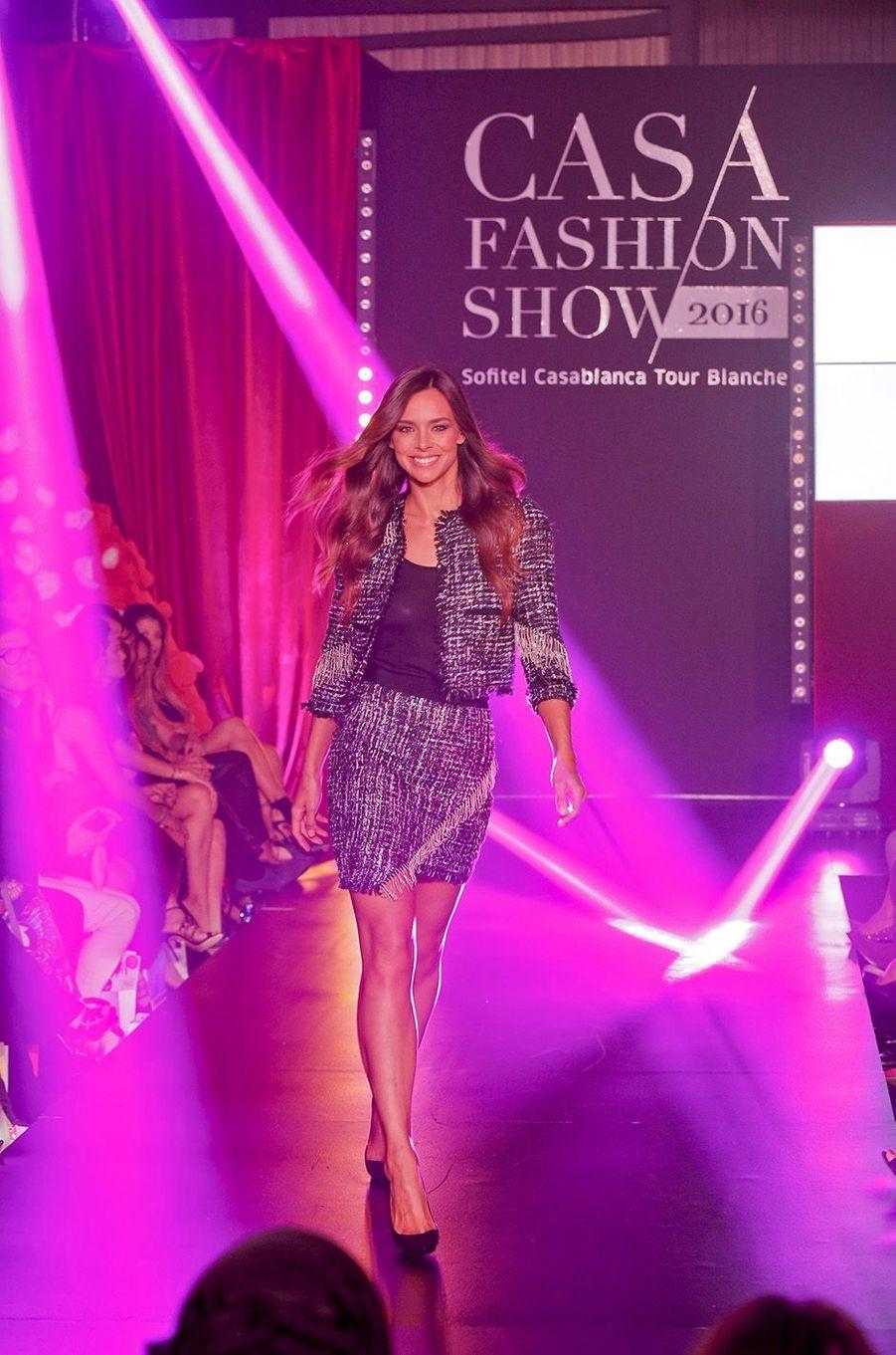 L'ancienne Miss France, Marine Lorphelin, était venue défiler pour la 9e édition du Casa Fashion Show.