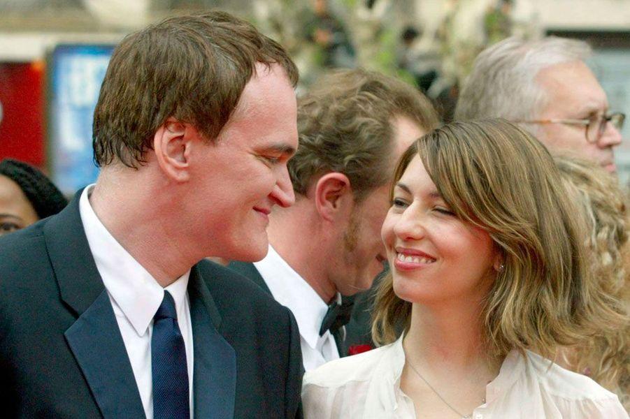 Le 12 mai 2004, lors de la montée des marches du film «Bad Education» de Pedro Almodovar, Quentin Tarantino et Sofia Coppola, membres du jury.