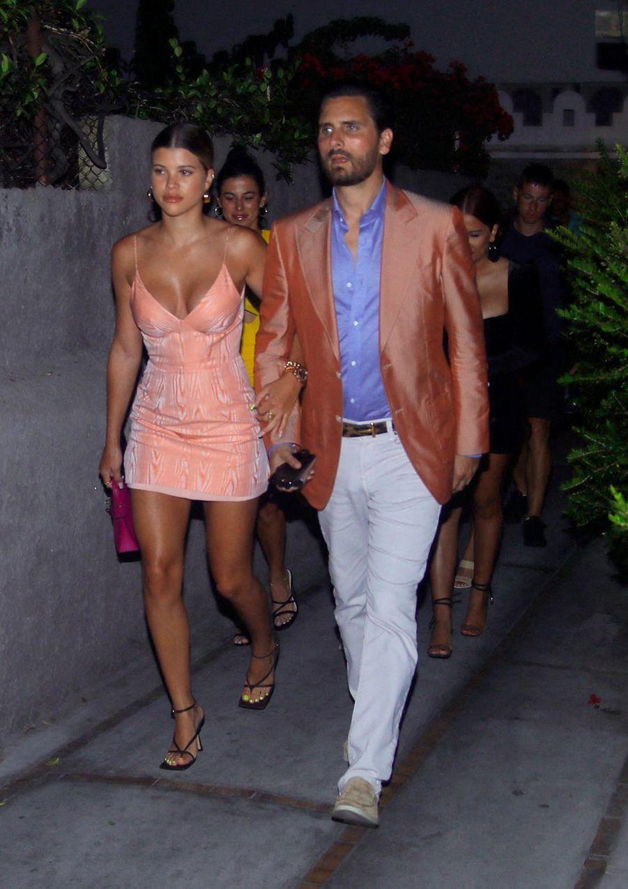 Sofia Richie et Scott Disick à Capri le 8 août 2019