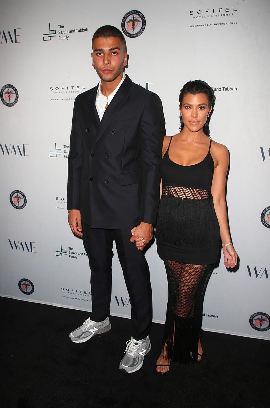 Younes Bendjima et Kourtney Kardashian à Los Angeles, le 4 mai 2018.