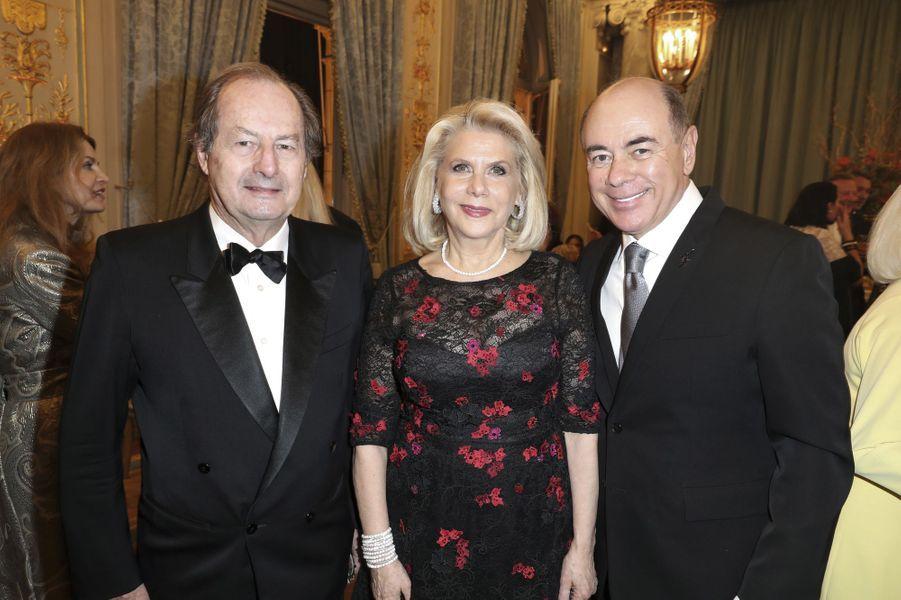 Jean-Marie Rouart, Francine Lefrak et Rick Friedberg.