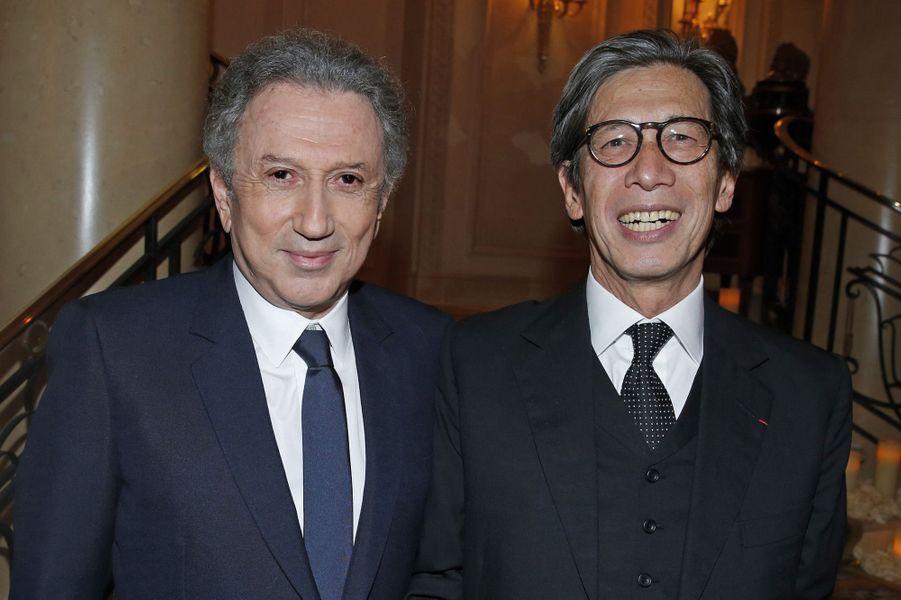 Michel Drucker et Patrick Bui.