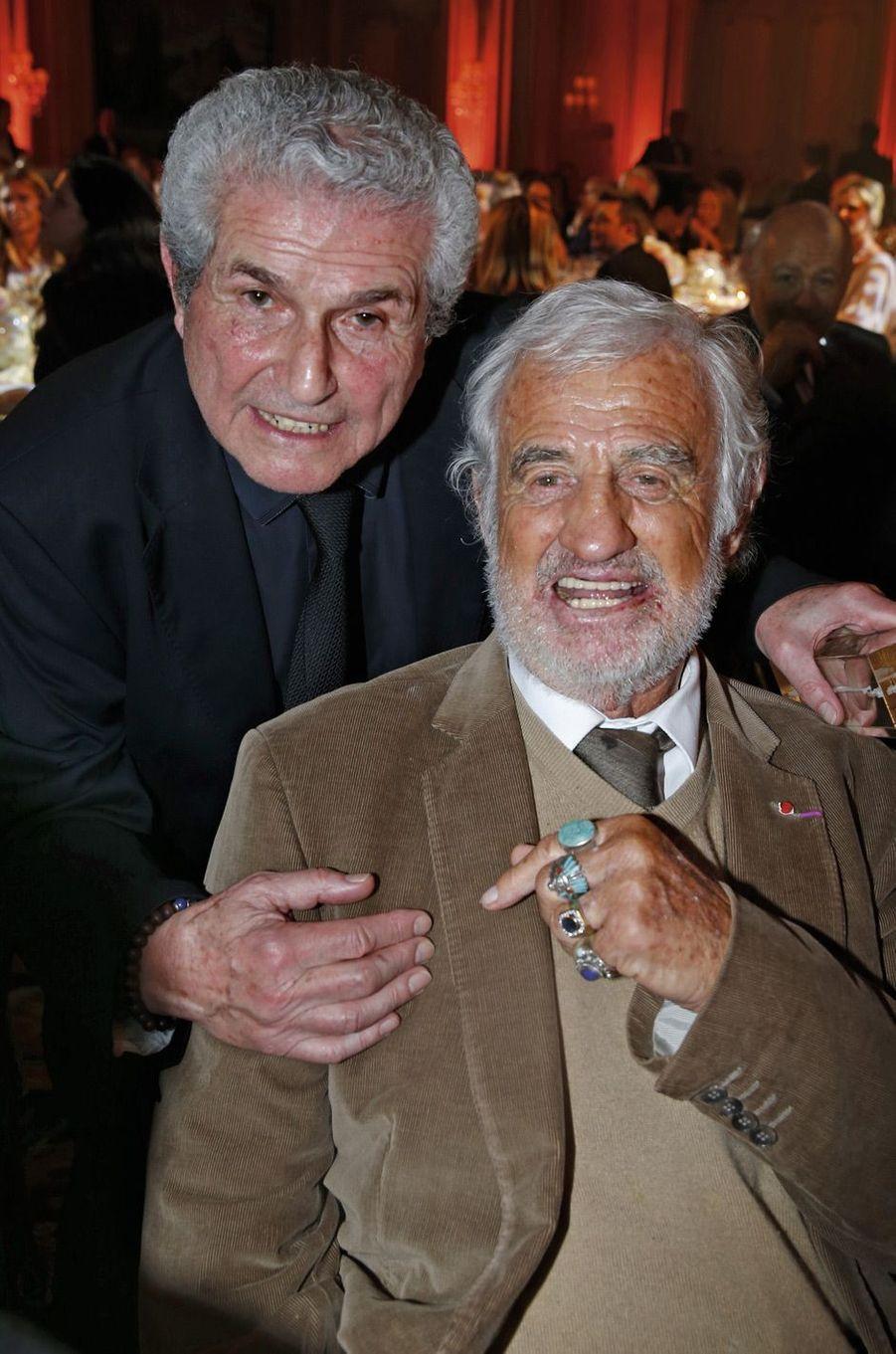 Claude Lelouch et Jean-Paul Belmondo.