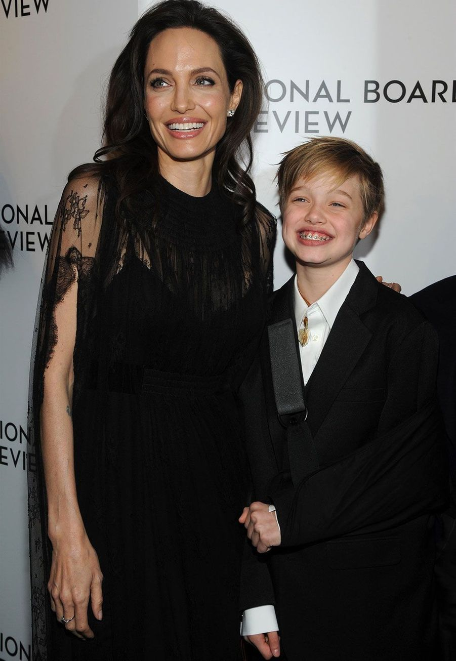 Angelina Jolie et Shiloh auxNational Board of Review mardi