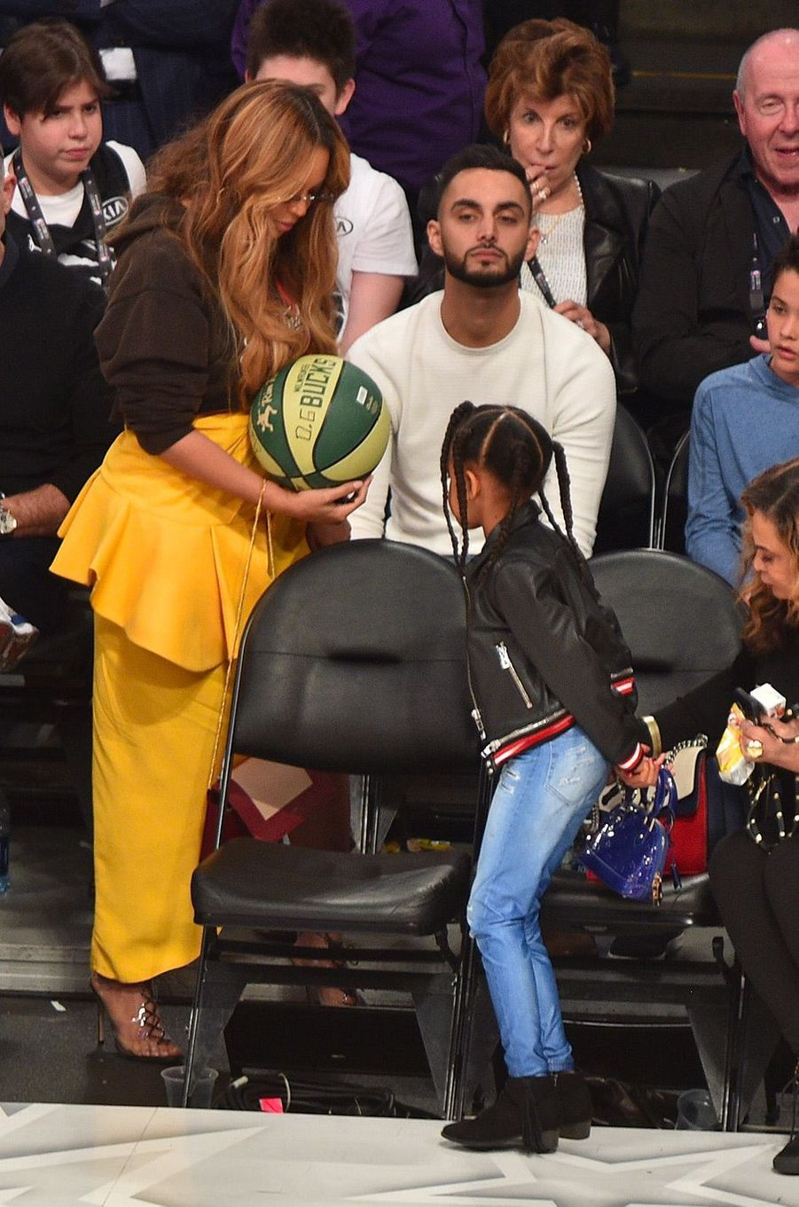 Beyoncé et Blue Ivy au NBA All-Star Game
