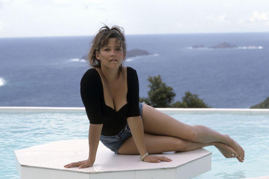Sophie Marceau à Saint-Barth en 1989.