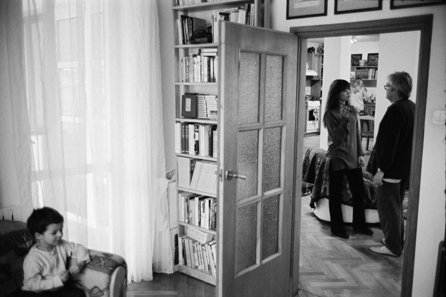 Sophie Marceau en Pologne avec Andrzej Zulawski et son fils Vincent.