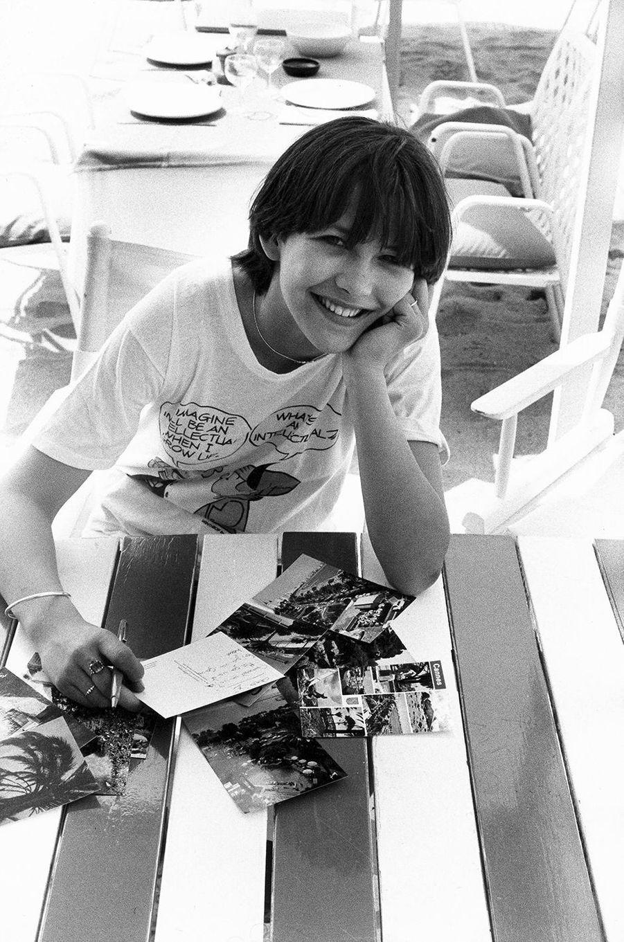 Sophie Marceau lors du 34e Festival de Cannes en 1981.