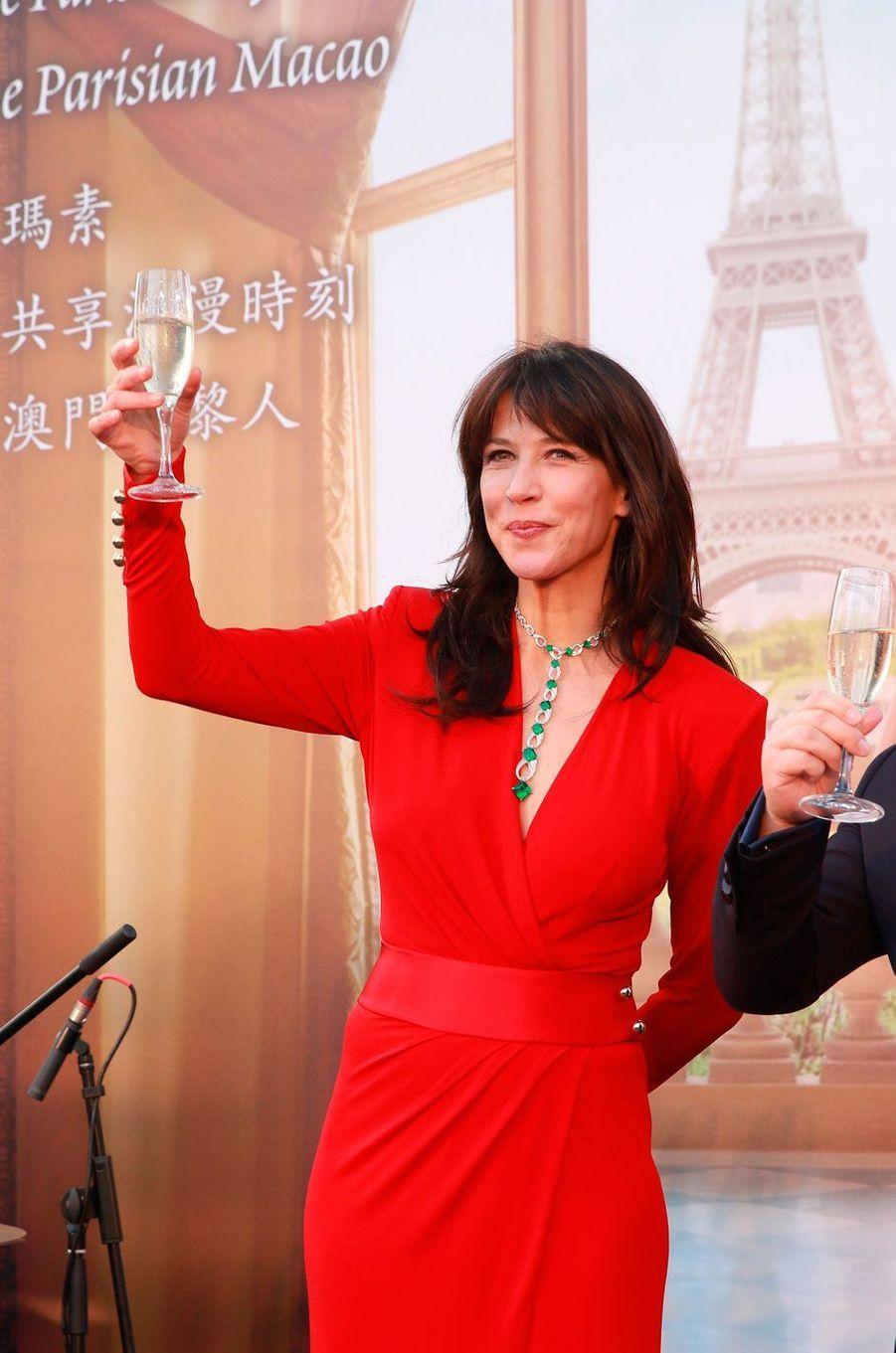 Sophie Marceau est présente à Macao pour animer une soirée