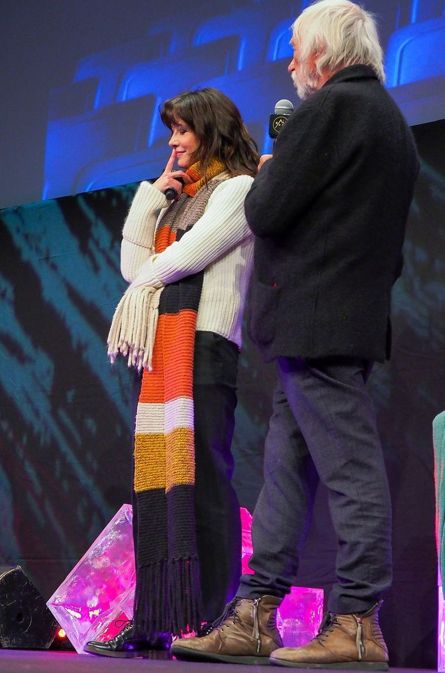 Sophie Marceau présente son film au Festival de l'Alpe d'Huez avec Pierre Richard