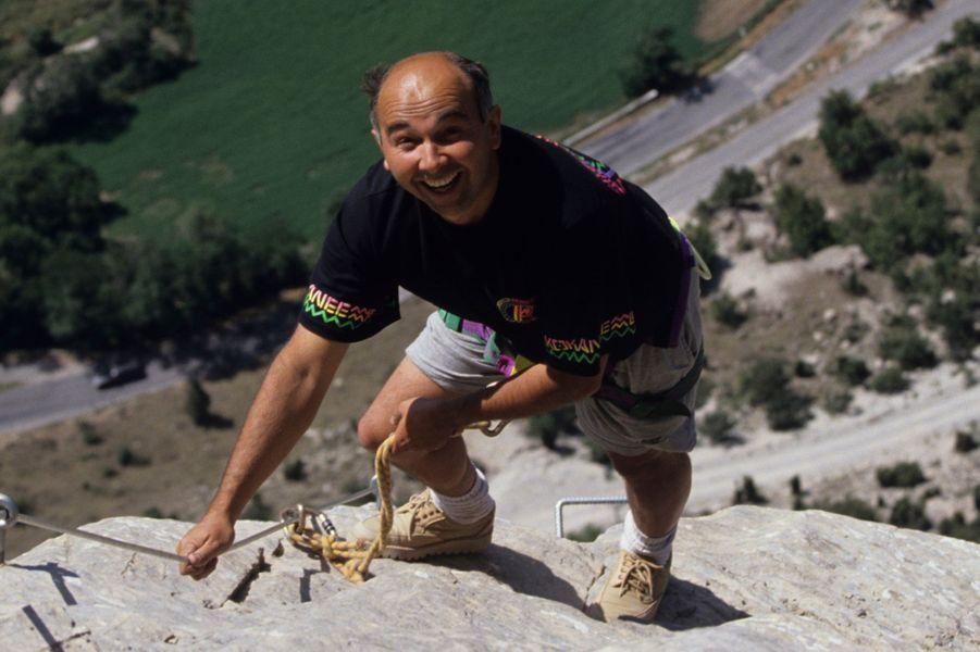 Massifs du Queyras : l'acteur Gérard Jugnot, plus sportif que jamais.