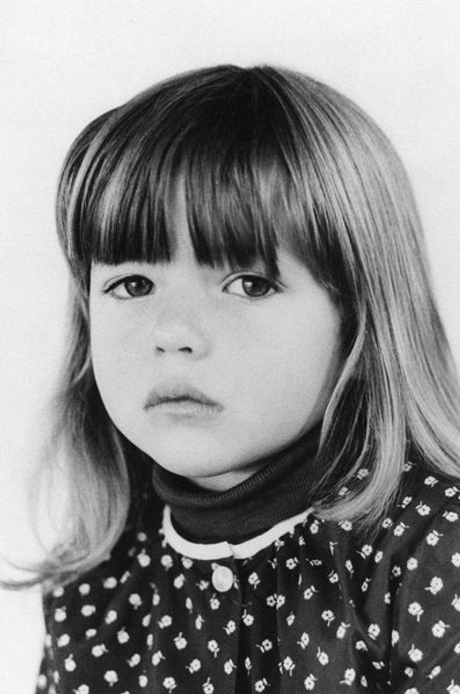 Sophie Marceau a 4 ans.