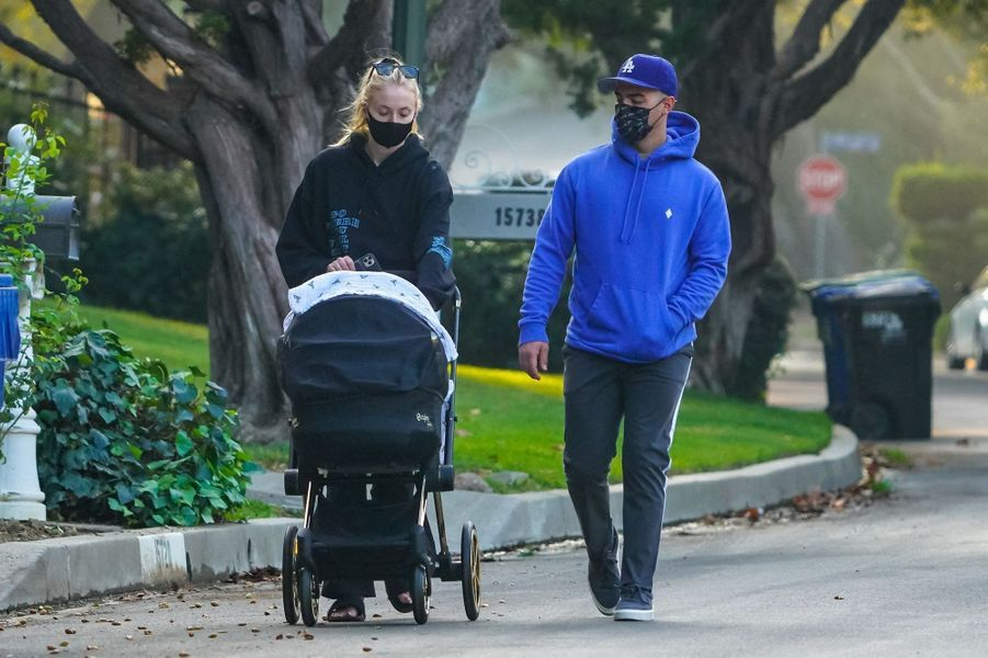 Sophie Turner et Joe Jonasà Los Angeles le 21 octobre 2020