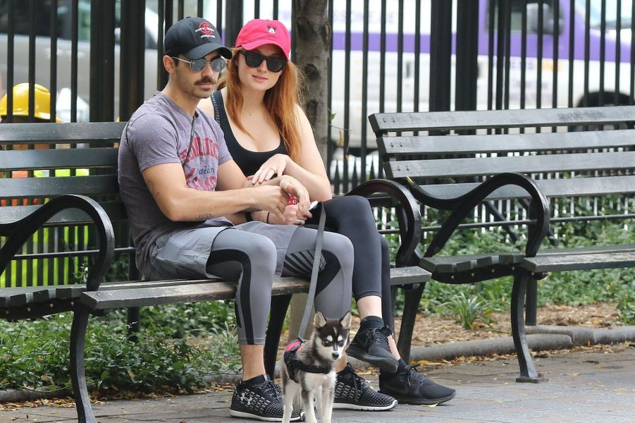 Sophie Turner et Joe Jonas le 7 septembre 2017 à New York.