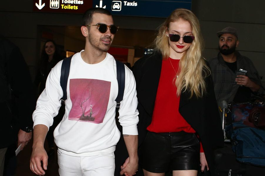 Sophie Turner et Joe Jonas, le 6 mars 2017 à Paris.