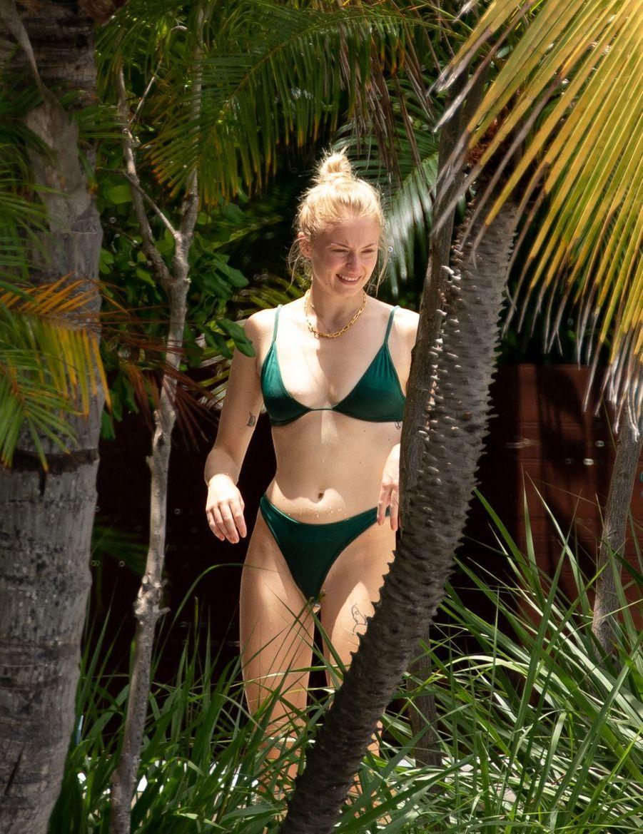 Sophie Turneren vacances à Miami le week-end du 3-4 août 2019.