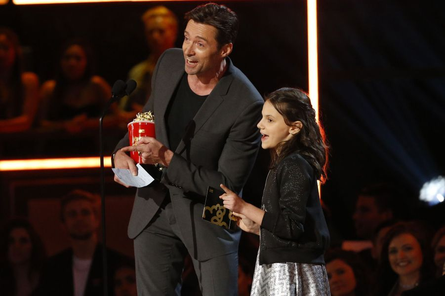Hugh Jackman et Dafne Keenaux MTV Movie and TV Awards, à Los Angeles, le 7 mai 2017.