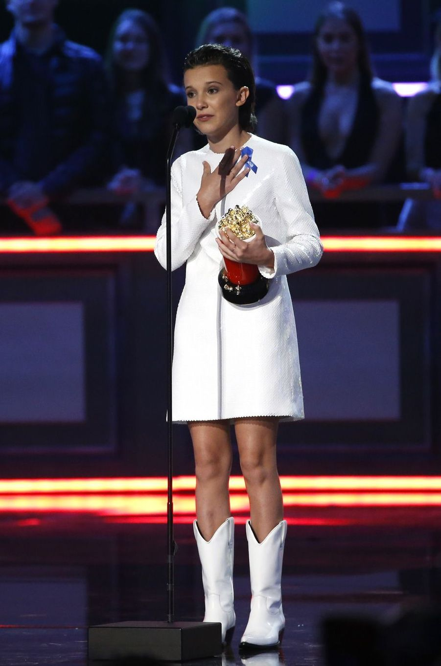 Millie Bobby Brownaux MTV Movie and TV Awards, à Los Angeles, le 7 mai 2017.