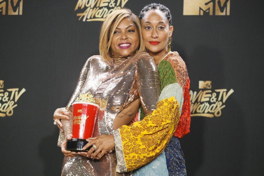 Taraji P. Henson et Tracee Ellis Rossaux MTV Movie and TV Awards, à Los Angeles, le 7 mai 2017.