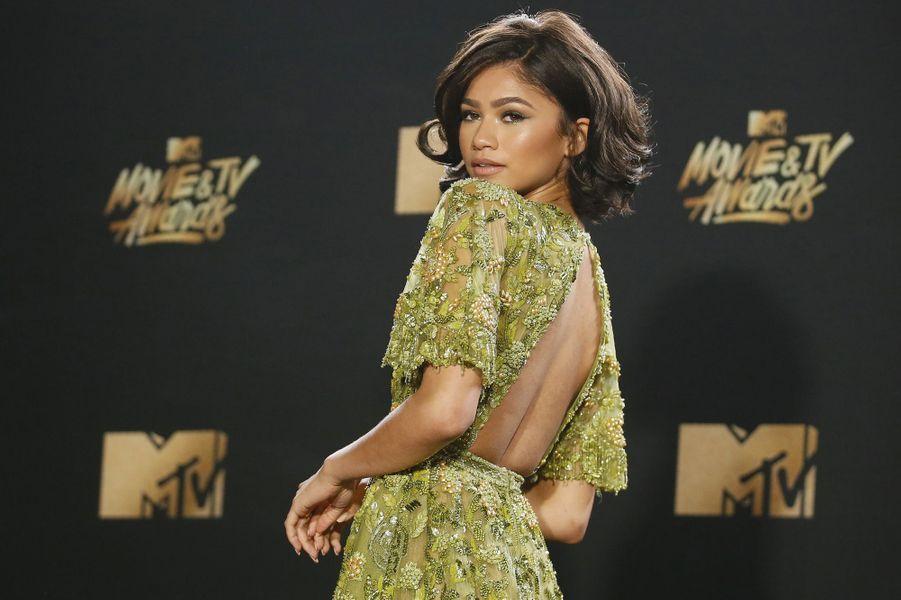 Zendayaaux MTV Movie and TV Awards, à Los Angeles, le 7 mai 2017.