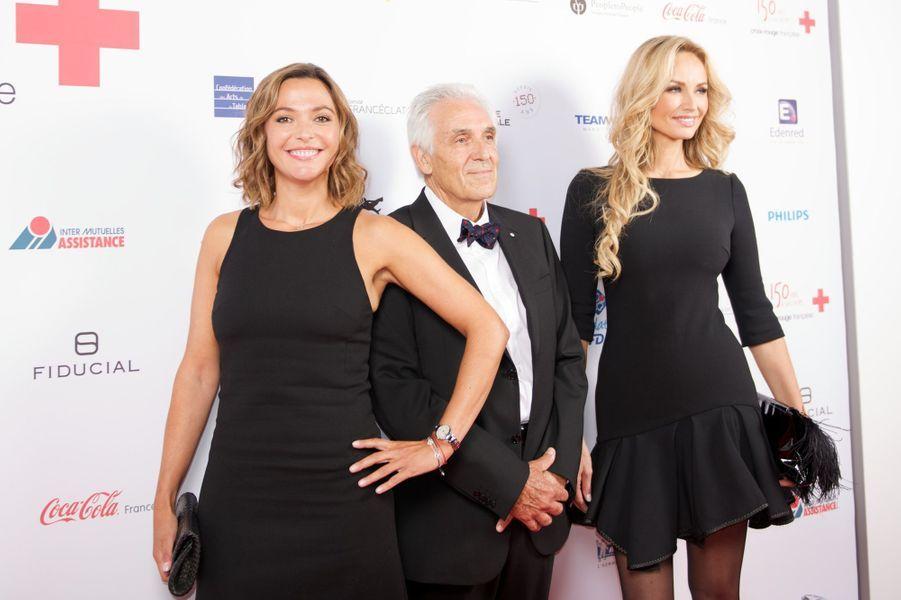Sandrine Quétier, Jean-Jacques Eledjam et Adriana Karembeu au Gala des 150 ans de la Croix-Rouge à Paris le 12 septembre 2014.